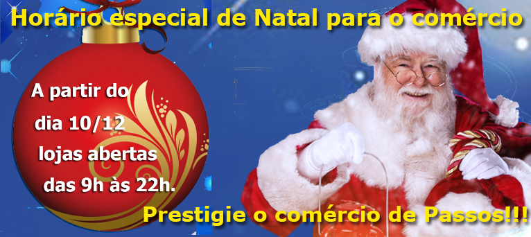 Horário especial de Natal começa dia 10