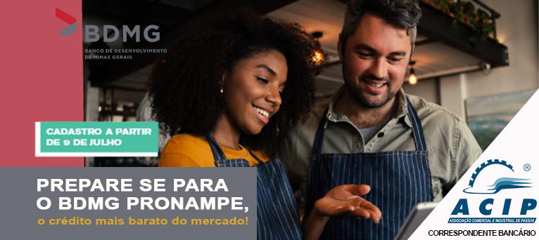 BDMG-ACIP: PRONAMPE libera nova remessa de crédito