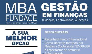 Escola fecha parceria com a Fundace e oferece MBA em Gestão de Finanças
