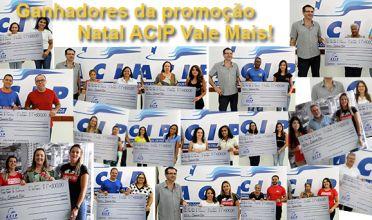 Conheça os ganhadores da campanha Natal ACIP Vale Mais!