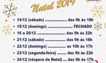 Horário de funcionamento do comércio para o Natal 2019