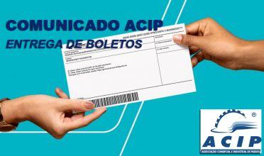 Comunicado ACIP - Envio de boletos