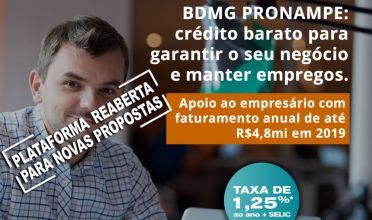 BDMG reabre linha de crédito Pronampe