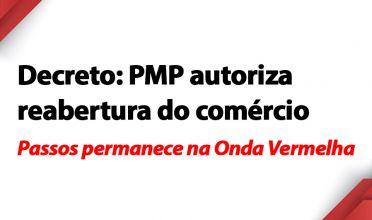 Decreto: PMP autoriza reabertura do comércio em Passos