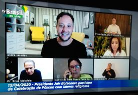André Valadão Participa de Video conferencia com Presidente do Brasil