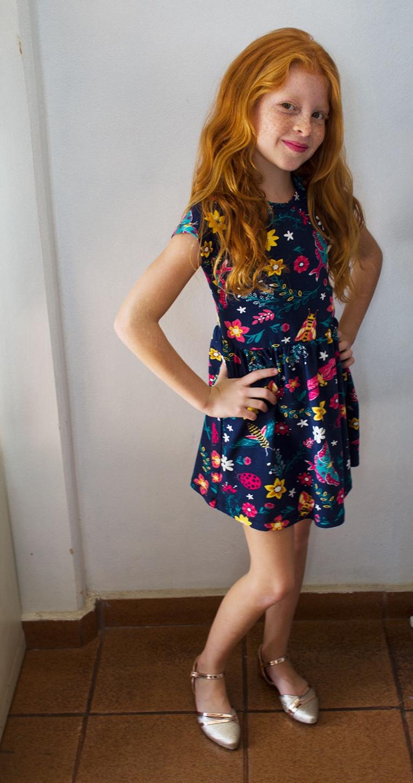 Vestido Estampado da Nova Coleção Primavera Verão da Puc
