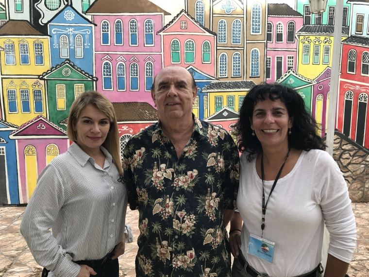 Eu ao lado de Edgar Pereira da Silva e Tetê Lemos (Me Leve Turismo)