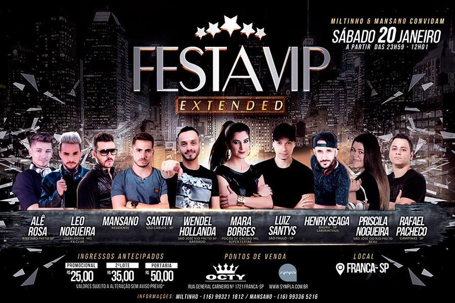 Festa Vip Extended 7 Anos / Franca-SP