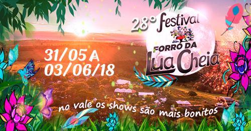 28º Festival Forró da Lua Cheia de 31/05 à 03/06 / Altinópolis-SP