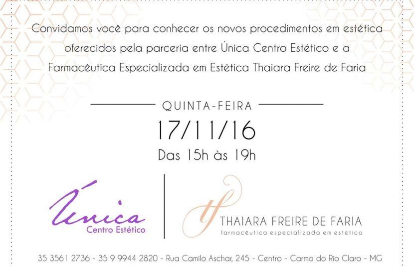 #Convite - Única Centro Estético