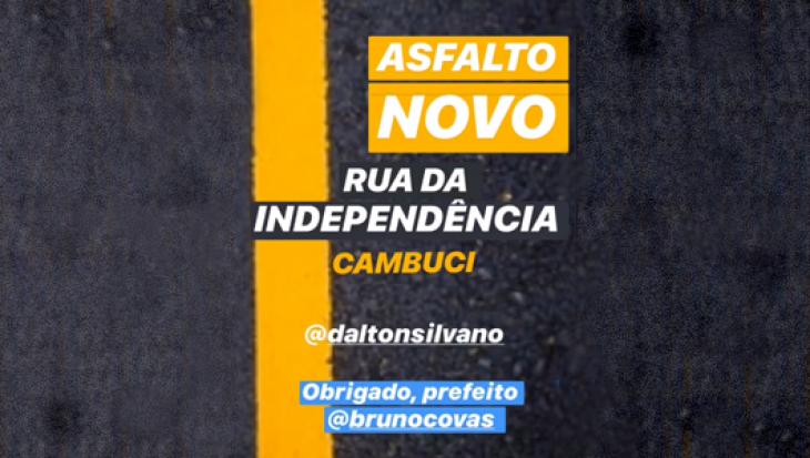 Asfalto Novo - Rua da Independência - Cambuci