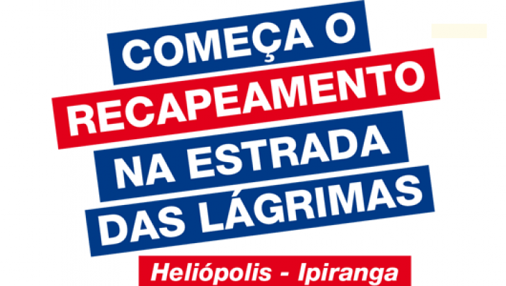 RECAPEAMENTO ASFÁLTICO - ESTRADA DAS LÁGRIMAS