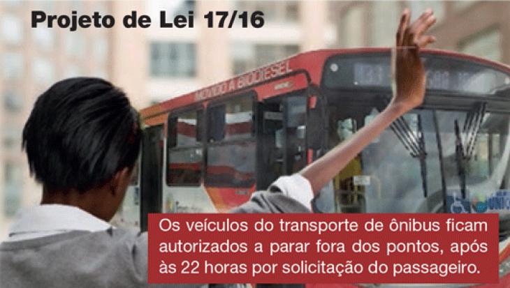 Veículos do transporte coletivo por ônibus que operam após as 22h