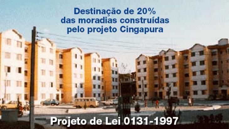 Destinação de 20% das moradias construídas pelo projeto Cingapura