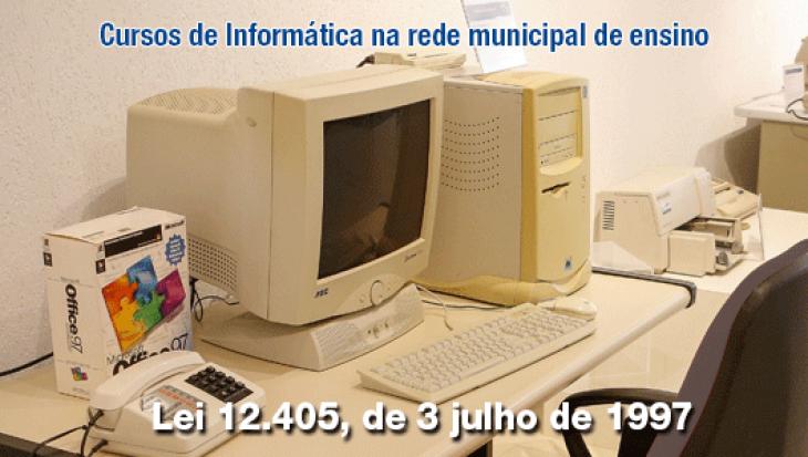 Cursos de Informática na rede municipal de ensino