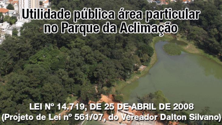 Área particular no Parque da Aclimação (utilidade pública)