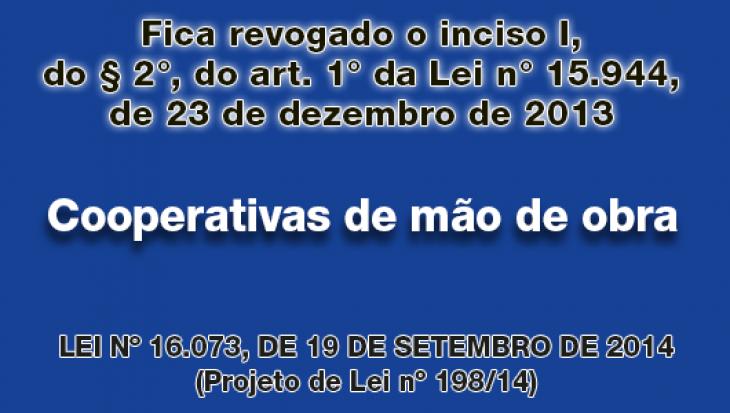 Participação das cooperativas de mão de obra em licitações e contratações promovidas pela Administração Direta e Indireta do Município de São Paulo
