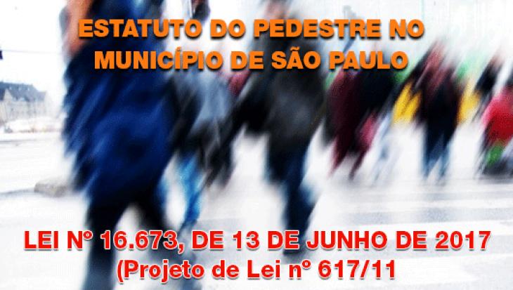 Estatuto do Pedestre no Município de São Paulo