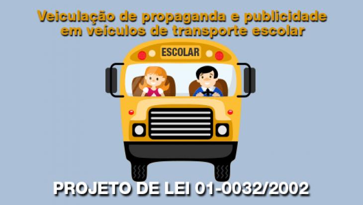 Veiculação de propaganda e publicidade em veículos de transporte escolar