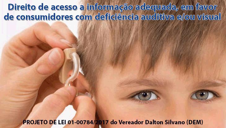 Direito de acesso a informação adequada, em favor de consumidores com deficiência auditiva e/ou visual