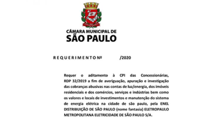 Requer o aditamento à CPI das Concessionárias, RDP 32/2019