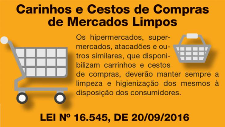 CARRINHOS  E CESTOS DE COMPRAS DE MERCADOS LIMPOS