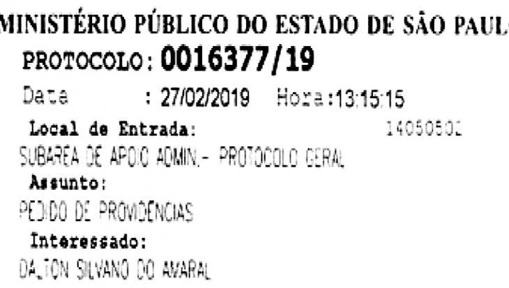 Vereador Dalton Silvano entra no Ministério Público contra a ENEL.