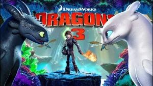 Como Treinar o seu Dragão 3 Continuação das aventuras do viking Soluço e seu dragão Fúria da Noite.