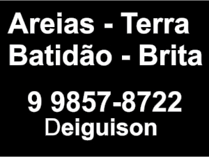 Serviços em Geral, Terra, Areia, Batidão, Brita - Passos MG