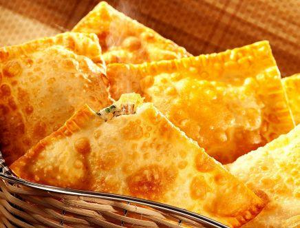 Pastel de queijo com shitake