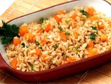 Arroz Integral com Legumes ao Curry
