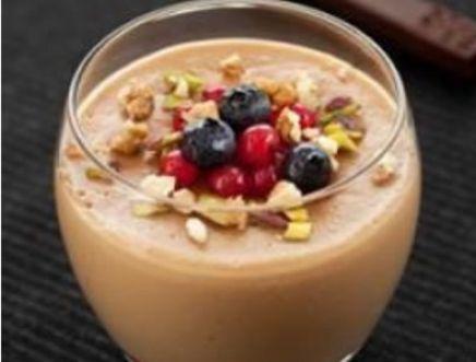 Sobremesa saudável de Chocolate e Framboesa