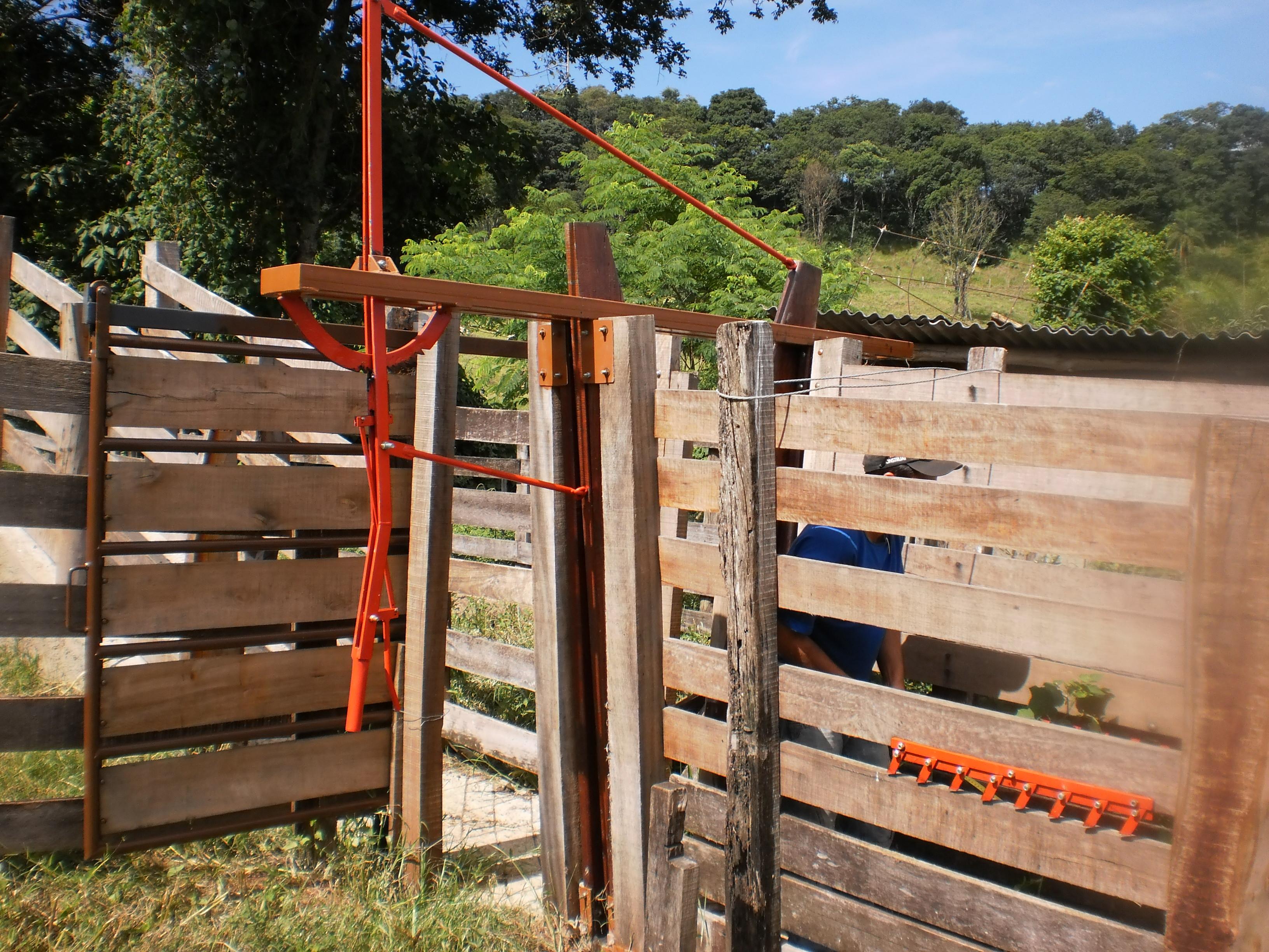 Pescoceira instalada tronco