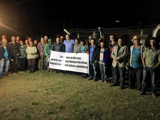 Deputado Federal Renato Andrade inaugura poço em Nova Resende
