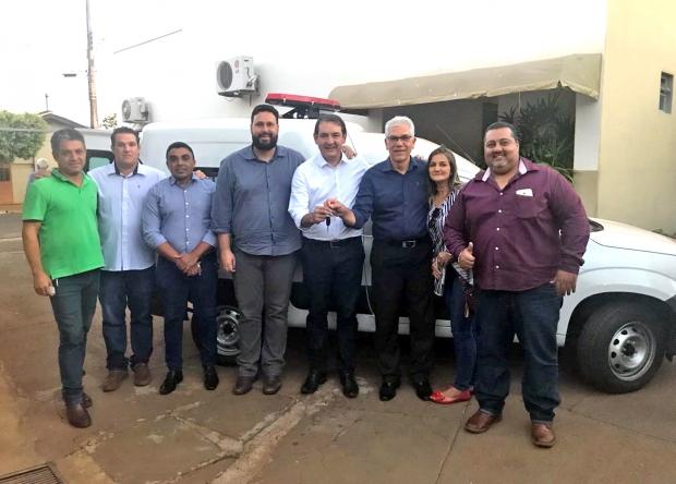 Deputado Federal Renato Andrade entrega ambulância em Planura
