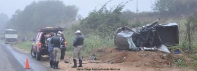 Acidente grave na MG 184, entre Areado e Alterosa, faz uma v�tima fatal e deixa um ferido