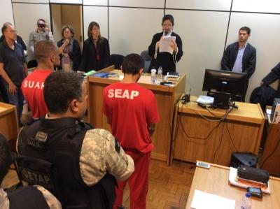 R�us foram condenados por homic�dio triplamente qualificado (Foto: Reprodu��o Twitter Tribunal de Justi�a de Minas Gerais (TJMG)