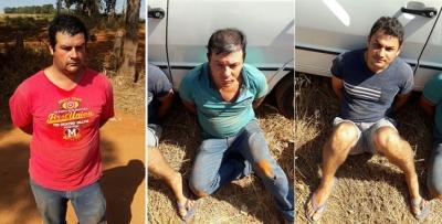 O trio foi preso em Alterosa em uma a��o conjunta da Pol�cia Civil e Pol�cia Militar. No centro, Daniel Bruno